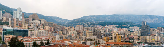 Panorama of Monaco, French Riviera Stock Image
