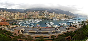 Panorama of Monaco harbor Royalty Free Stock Photography