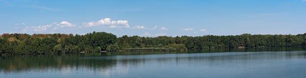 Panorama Monchwaldsee w zachodzie Frankfurt magistrala, Hesse, G - Am - obraz royalty free