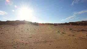 Panorama of the Mongolian landscape stock footage