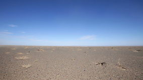 Panorama of the Mongolian landscape stock video