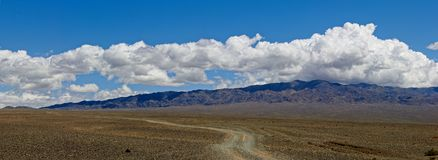 Panorama Mongolskie drogi obraz royalty free