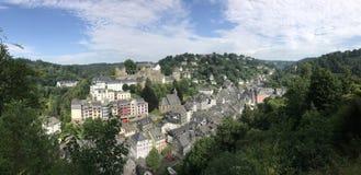 Panorama from monschau Royalty Free Stock Photo