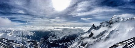 Panorama from Mont Blanc Royalty Free Stock Photography