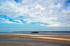 Panorama from Mont Saint Michel Royalty Free Stock Images