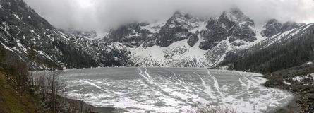 Panorama montagneux du Tatras photo stock