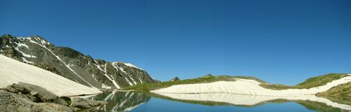 Panorama Montanhas e lagos Foto de Stock Royalty Free
