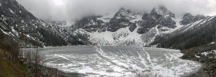 Panorama montanhoso do Tatras foto de stock