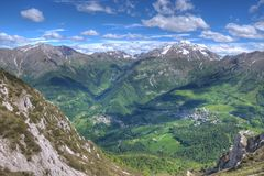 Panorama from Monte Alben Stock Photo