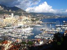 Monaco Monte, Carlo harbo - Zdjęcie Stock