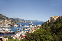 Panorama Monte Carlo harbor Monaco Royalty Free Stock Photography