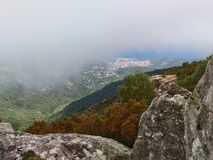 Panorama by Monte Perone. On Elba Island, Italy. Panorama visible from Monte Perone. This place is located on Elba Island, in Tuscany, Italy. The island is a stock images