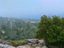 Panorama by Monte Perone. On Elba Island, Italy. Panorama visible from Monte Perone. This place is located on Elba Island, in Tuscany, Italy. The island is a stock photo