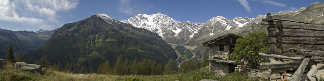 Panorama Monte Rosa Royalty Free Stock Images