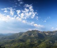 Panorama of Montenegrin mountain range Royalty Free Stock Images