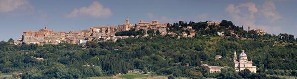 Panorama of Montepulciano Stock Images