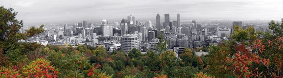 Panorama of Montreal Stock Images