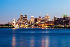 Panorama of Montreal at sunset Royalty Free Stock Photography