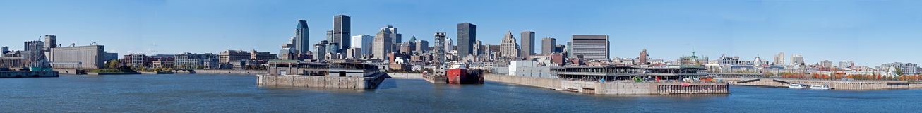 Panorama Montreal Waterfront Stock Photography