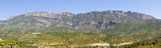 Panorama of the Montsec range in Catalonia Stock Image