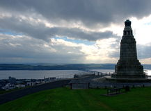 Panorama and monument. Royalty Free Stock Image