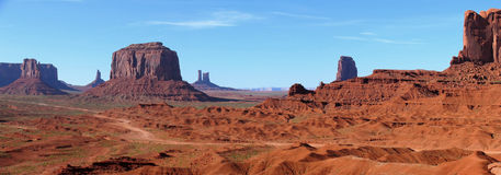 Panorama of Monument Valley stock photos