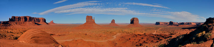 Panorama Monument Valley. Panorama view of Monument Valley Royalty Free Stock Photos