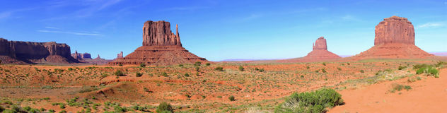 Panorama of Monument Valley Stock Image