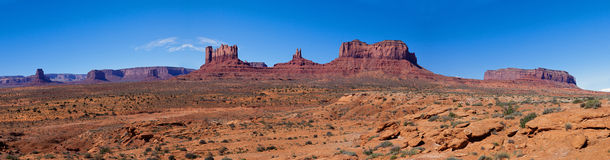 Panorama of Monument Valley Stock Photography