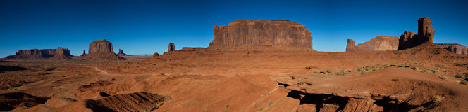 Panorama of the Monument Valley Stock Photos