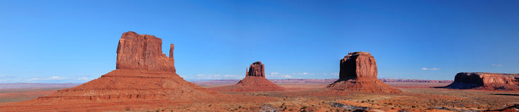 Panorama of Monument Valley mittens Stock Photos