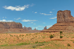 Panorama of Monument Valley Stock Images