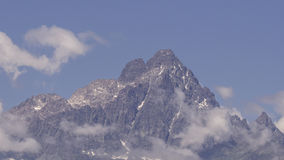 Panorama of Monviso, called the King of Stone Royalty Free Stock Images
