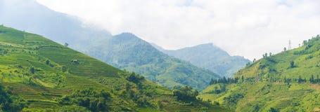 Panorama Mooie Mening van bergen Stock Fotografie