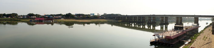 Panorama of Moon river Stock Images