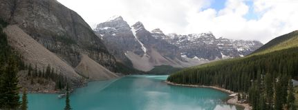 Panorama - Moraine Lake Stock Images