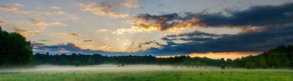 Panorama morning landscape Royalty Free Stock Photography
