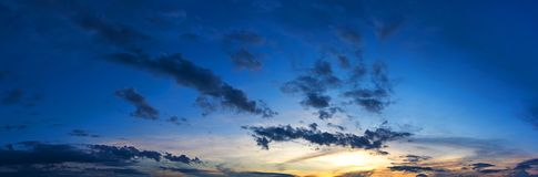 Panorama morning sky with sunrise Royalty Free Stock Image