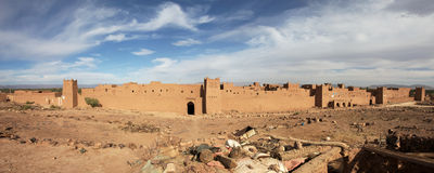 Panorama of Moroccan fortress Royalty Free Stock Photos