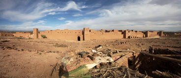 Panorama of Moroccan fortress Royalty Free Stock Image