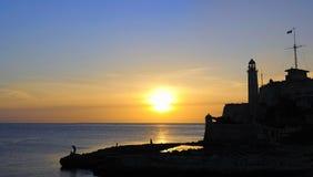 Panorama of Morro fortress in havana, cuba Stock Photos