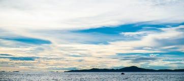 Panorama, morze i niebo, fotografia stock