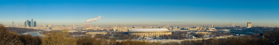Panorama of Moscow Royalty Free Stock Photos