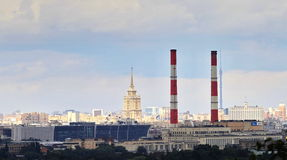 Panorama of Moscow,. A beautiful urban landscape, building Stock Photos