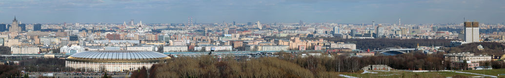 Panorama of Moscow Stock Photo