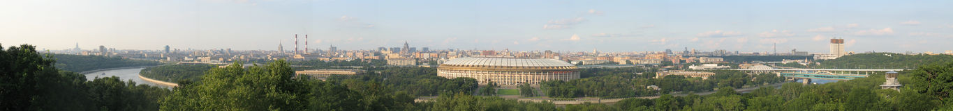 Panorama of Moscow. Olympic stadium Luzhniki stock photo