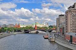 Panorama of Moscow centre Royalty Free Stock Photo