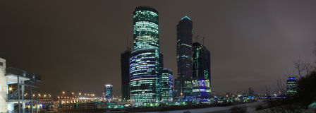Panorama Moscow city Royalty Free Stock Photography