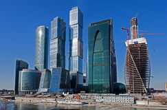 Panorama of Moscow City Stock Image
