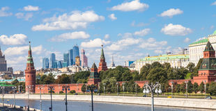 Panorama of Moscow city center with Kremlin Stock Photography